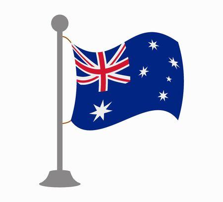 australia flag: australia flag mast Illustration