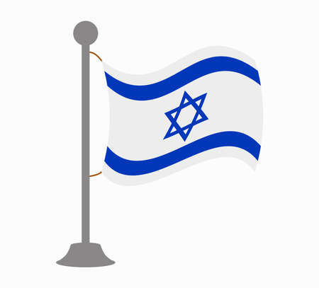 israel flag: israel flag mast Illustration