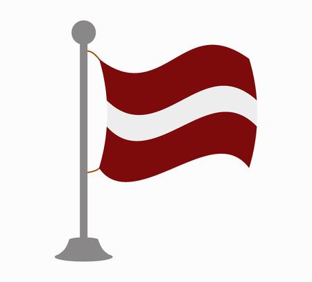 latvia flag: latvia flag mast