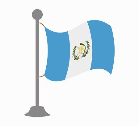 bandera de guatemala: Guatemala mástil de la bandera Vectores