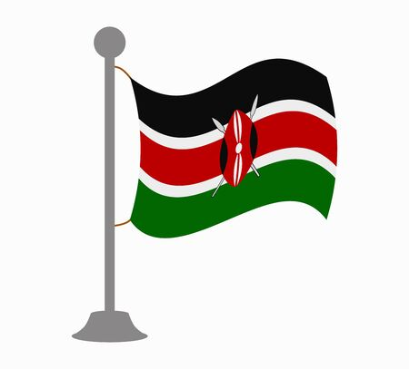 kenya: kenya flag mast Illustration