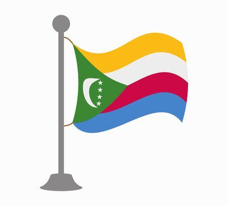 comoros flag mast