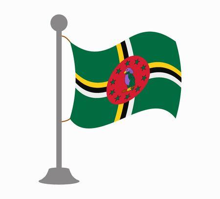 dominica flag mast Illustration