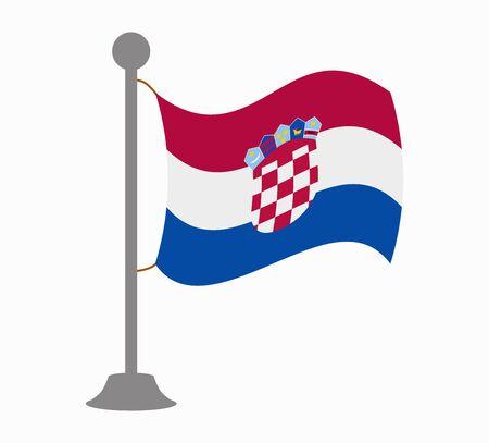 bandera croacia: Croacia mástil de la bandera
