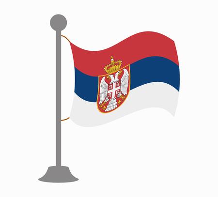 serbia: serbia flag mast