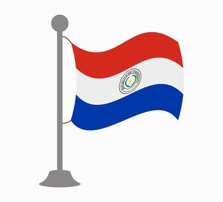 bandera de paraguay: Paraguay mástil de la bandera Vectores