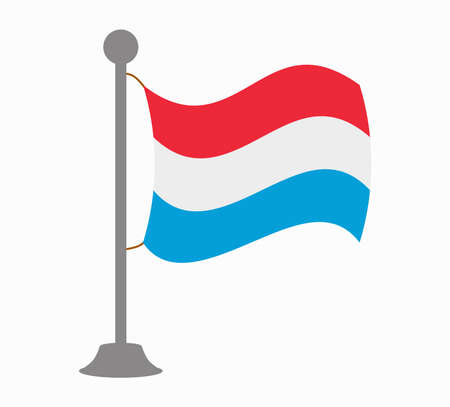 luxembourg: luxembourg flag mast