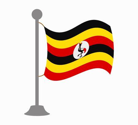oeganda vlag mast