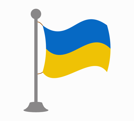 ukraine: ukraine flag mast