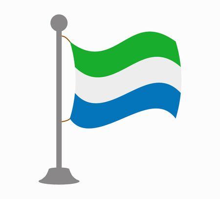 sierra leone: sierra leone flag mast
