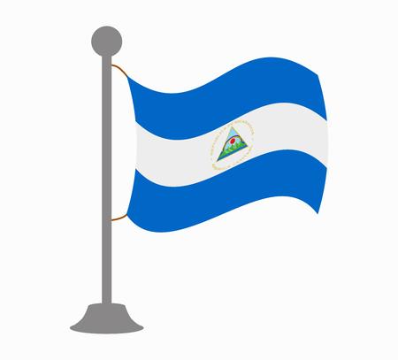 nicaragua: nicaragua flag mast Illustration