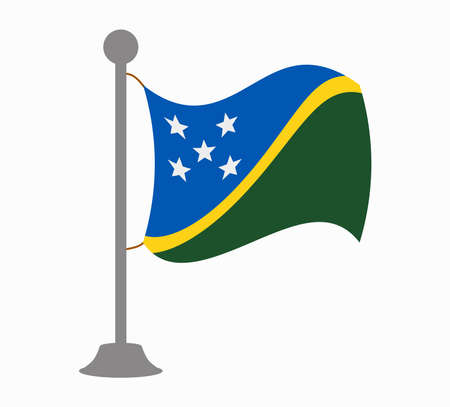 solomon islands flag mast Illustration