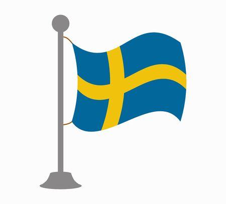 sweden: sweden flag mast Illustration