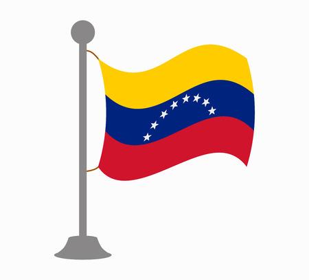 bandera de venezuela: Venezuela mástil de la bandera Vectores