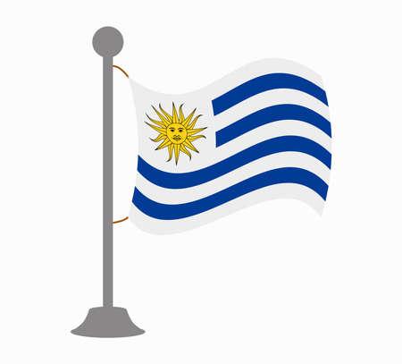 bandera de uruguay: Uruguay mástil de la bandera