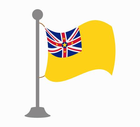 niue: niue flag mast Illustration