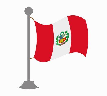 bandera de peru: Perú mástil de la bandera