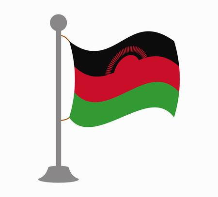 malawi: malawi flag mast