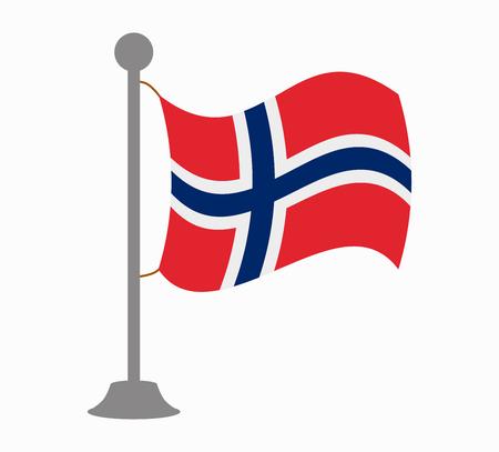 norway flag: norway flag mast