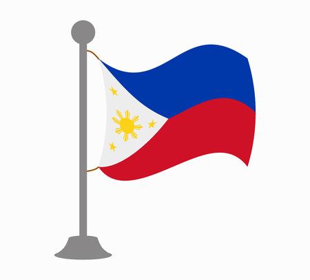 philippines flag mast Illustration