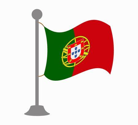 portugal flag: portugal flag mast Illustration