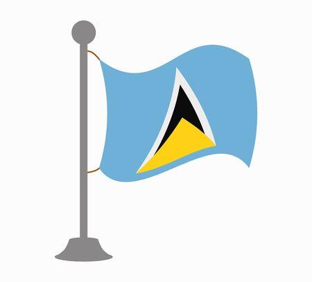 saint: saint lucia flag mast