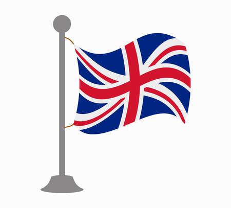 united kingdom: united kingdom flag mast Illustration