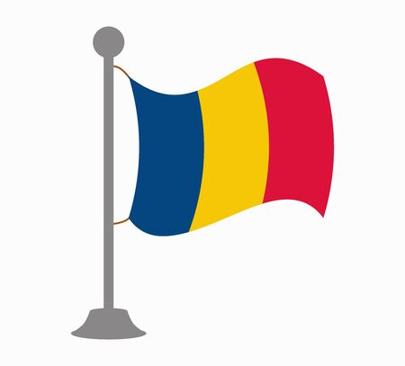 romania flag mast Illustration