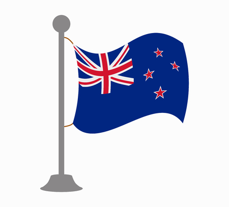 bandera de nueva zelanda: new zealand flag mast