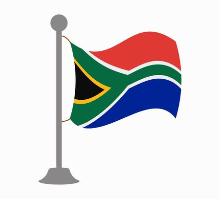 south africa flag: south africa flag mast