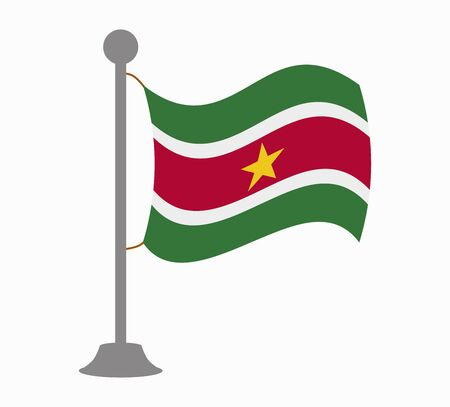 suriname flag mast Illustration