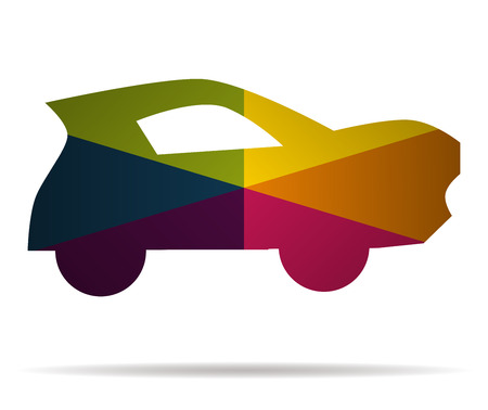 car multicolor icon vector Illustration