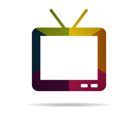 tv multicolor icon vector