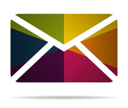 Correo electrónico icono multicolor icono