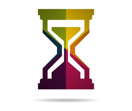 hourglass multicolor icon vector