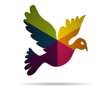 colombe multicolore vecteur icône Vecteurs