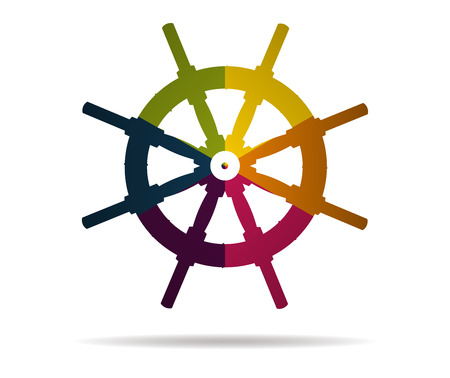 Steuerruder: rudder multicolor icon vector Illustration