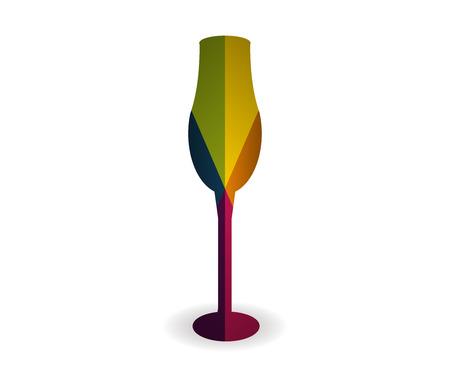 cup multicolor icon vector