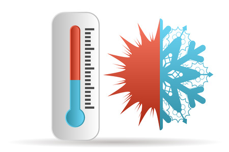 thermometer and meteorology isolated