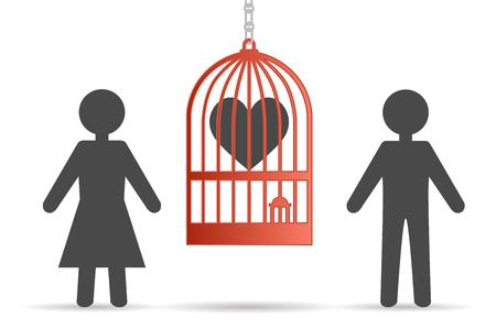 soledad: hombre y mujer soledad Vectores