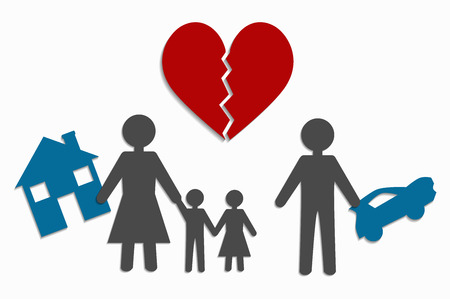 separated: divorce and separation of property Illustration