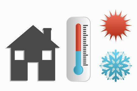koude temperatuur en warmte woningen