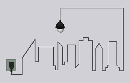 city background: light and city background
