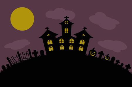 halloween background: halloween background castle cemetery