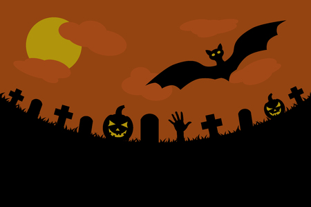 gloomy: halloween background gloomy cemetery