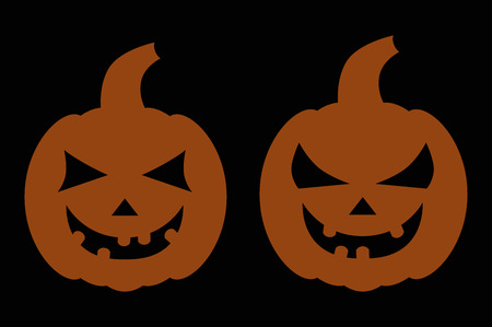 halloween background: halloween background two pumpkins