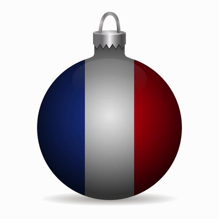 france flag: france flag christmas ball vector Illustration