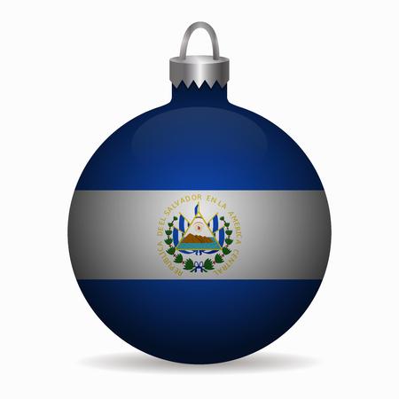 bandera de el salvador: bandera de El Salvador vector de la bola de Navidad