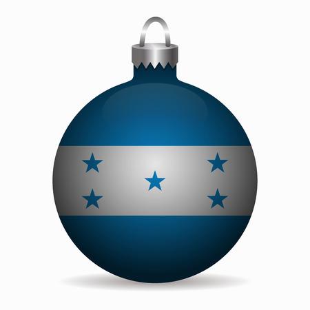 bandera honduras: bandera de Honduras del vector bola de Navidad Vectores