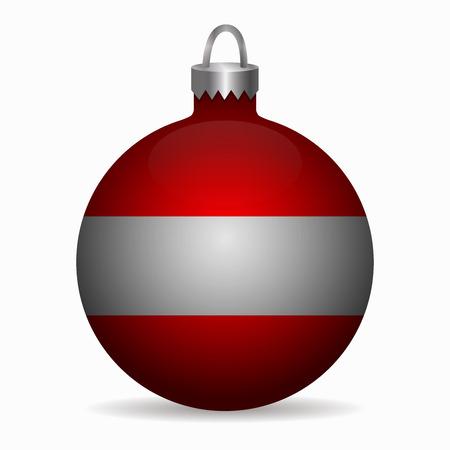 austria flag: austria flag christmas ball vector Illustration